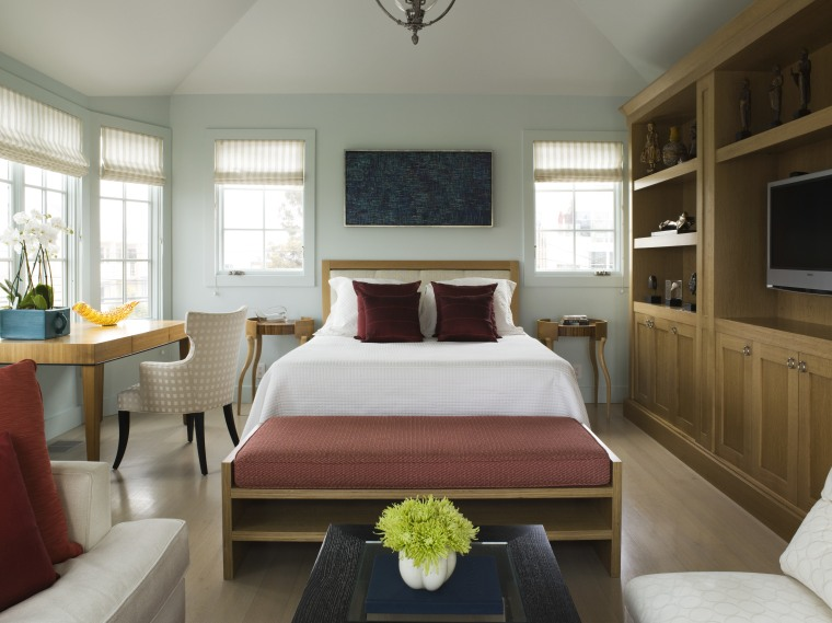View of this traditional house bedroom, ceiling, interior design, living room, room, suite, window, gray, brown