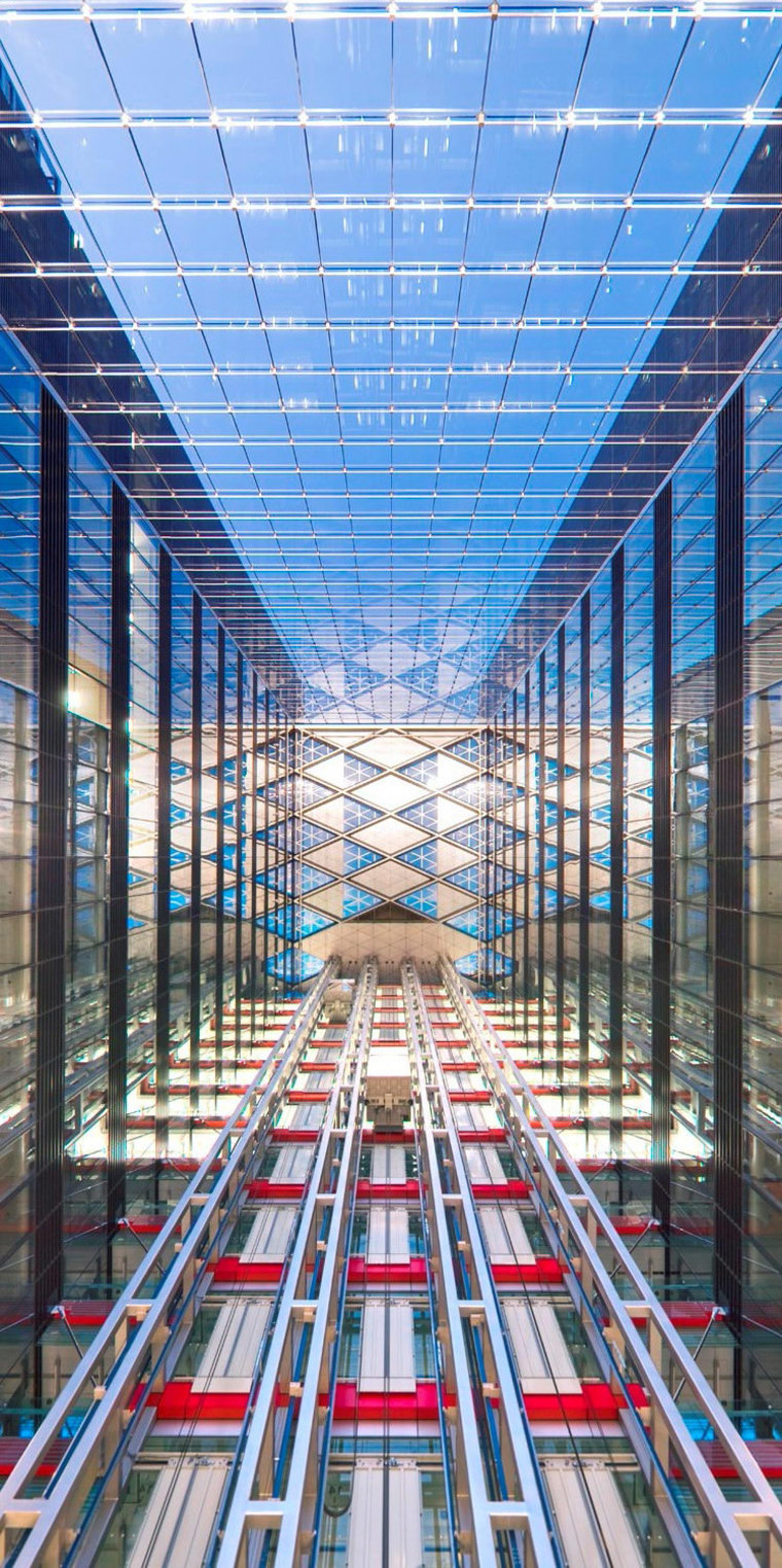 China Diamond Exchange Center building, daylighting, facade, metropolis, metropolitan area, structure, teal