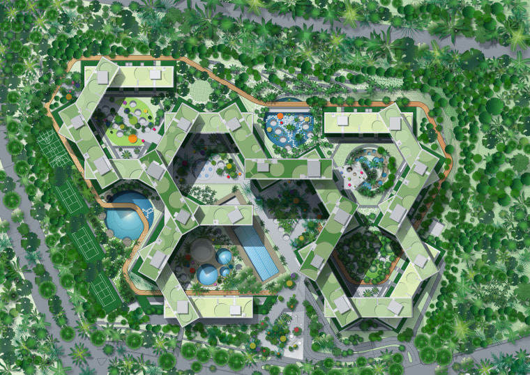 Interlace Conceptual aerial photography, area, bird's eye view, grass, land lot, residential area, suburb, urban design, green