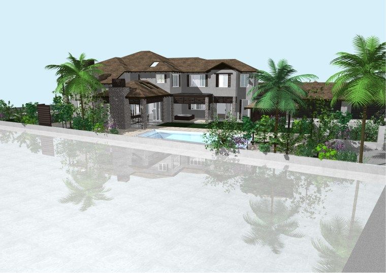 Start September arecales, estate, home, house, palm tree, property, real estate, resort, swimming pool, white