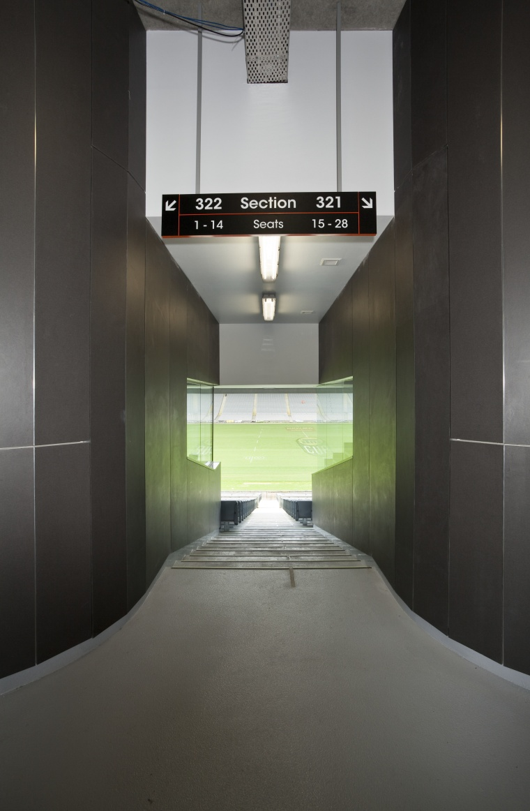 PBS Contracting supplied the Eden Park stadium facade architecture, daylighting, floor, glass, house, interior design, black, gray