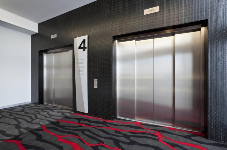 Schindler Lifts supplied and installed siz large capacity door, floor, flooring, interior design, window, black, gray