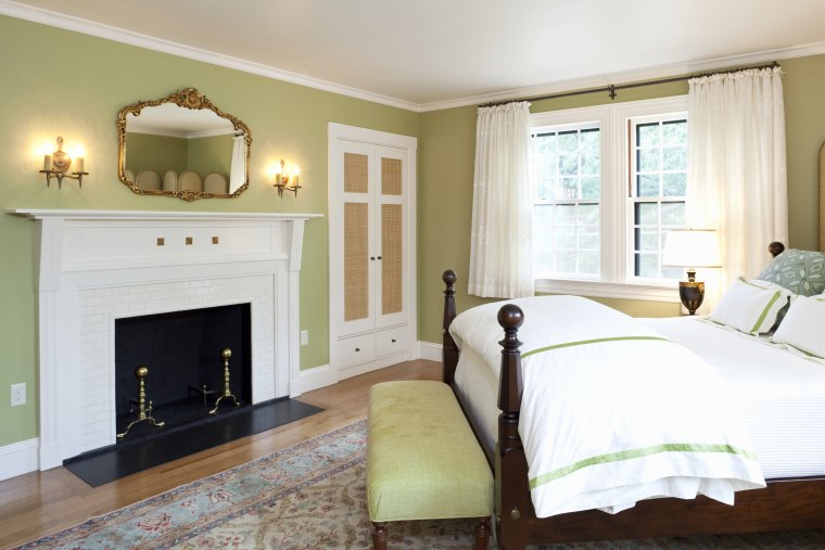 View of home in the historic Brattle Street bed frame, bedroom, ceiling, estate, floor, furniture, hardwood, home, house, interior design, living room, property, real estate, room, suite, wall, window, wood, wood flooring, white