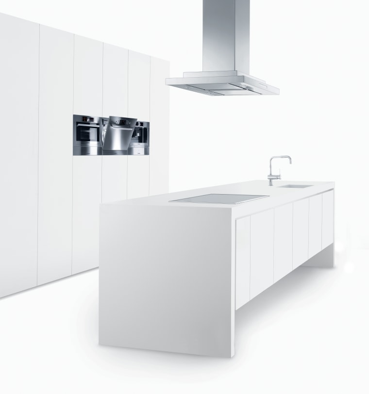 View of a minimal kitchen which features white angle, bathroom accessory, bathroom cabinet, bathroom sink, furniture, plumbing fixture, product, product design, tap, white