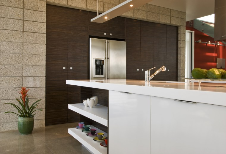 View of a kitchen designed by Celia Visser cabinetry, countertop, interior design, kitchen, product design, brown, gray