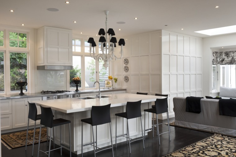 Creating a new tradition This kitchen references the ceiling, countertop, cuisine classique, interior design, kitchen, room, gray