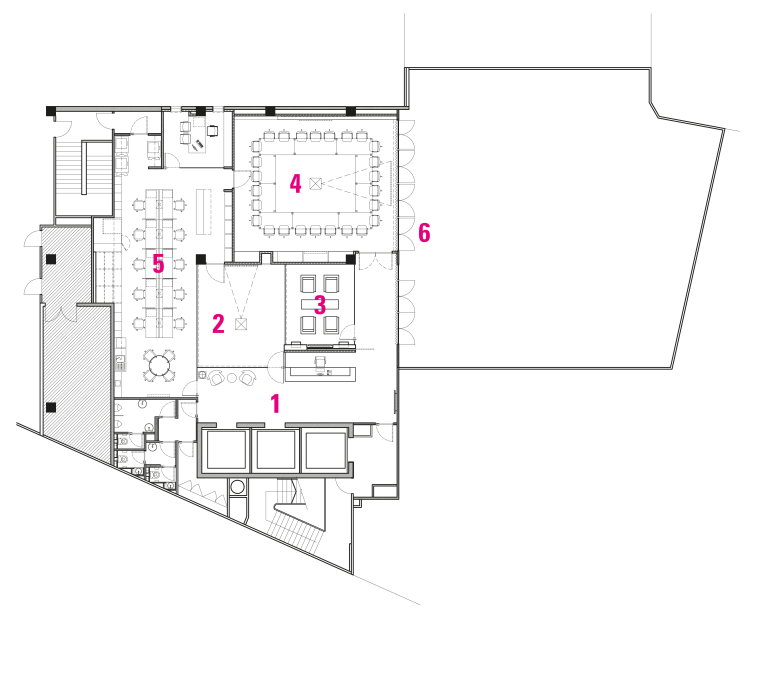 Contemporary offices of  the Real Estate Develoer's architecture, area, design, diagram, drawing, floor plan, line, plan, product design, text, white