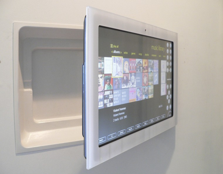 Kitchen. Home Automation. Technology. Future. Onetouch. computer monitor, display device, multimedia, product design, screen, gray