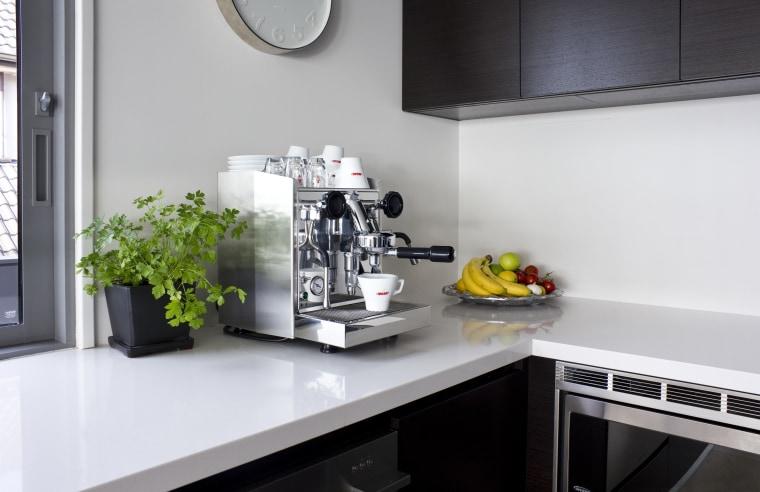 Nero Italia espresso pod countertop, home appliance, interior design, kitchen, product design, small appliance, gray, white