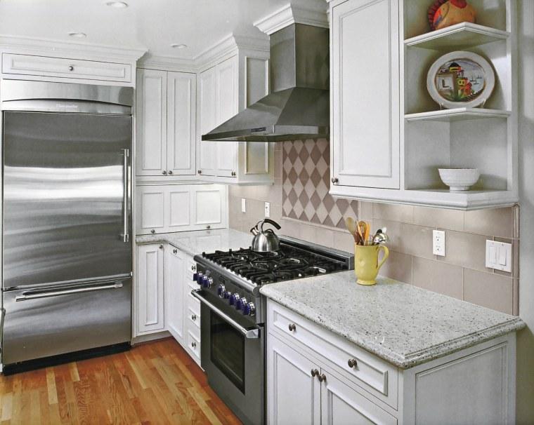 Kitchen by Nancy Del Santo cabinetry, countertop, cuisine classique, floor, home, home appliance, interior design, kitchen, kitchen appliance, room, gray