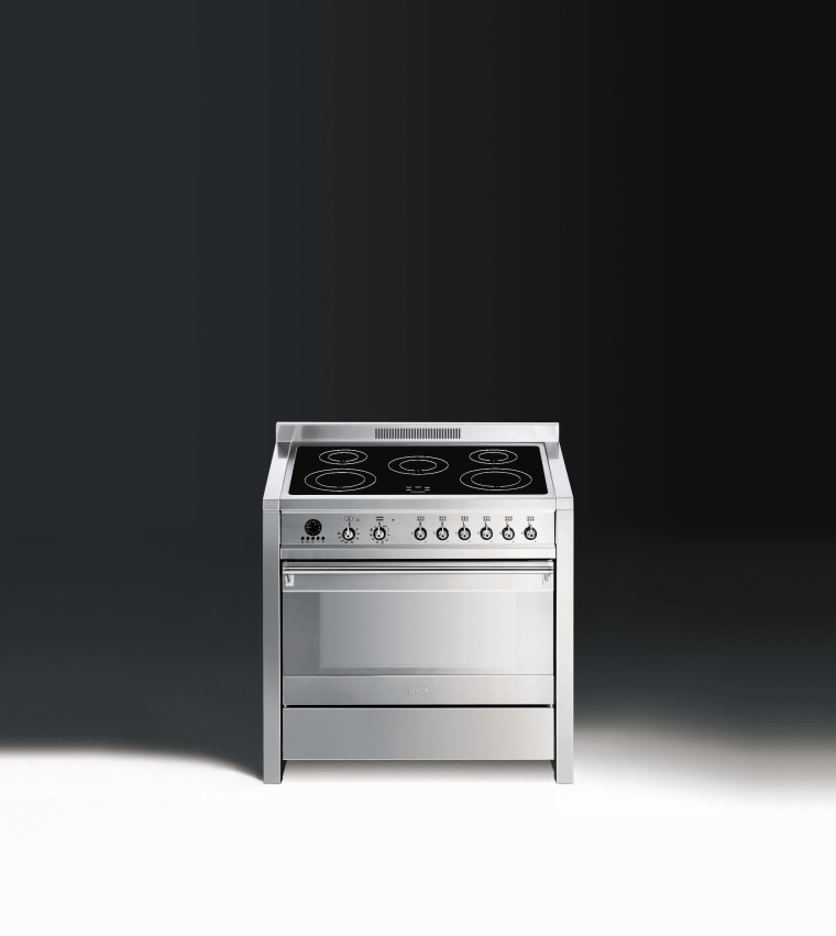 Freestanding cookers from Smeg highlight a significant design electronic instrument, electronics, gas stove, home appliance, major appliance, product, product design, black