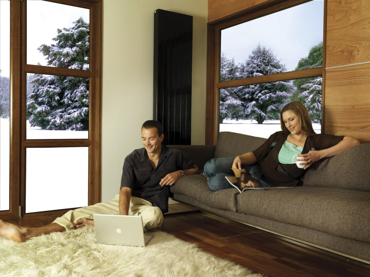 Warm comfortable living area. couch, furniture, home, house, interior design, living room, window, wood, brown