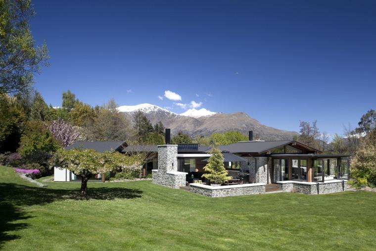 wide-ranging renovation by Mason & Wales Architects cottage, elevation, estate, farmhouse, home, house, landscape, mountain, mountain range, property, real estate, sky, tree, villa, blue