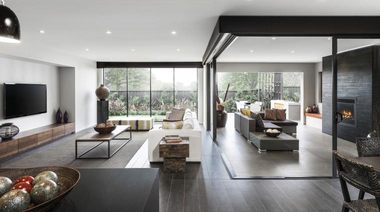 Winning recipe  Rawson Homes and celebrity chef architecture, house, interior design, living room, real estate, gray, white, black