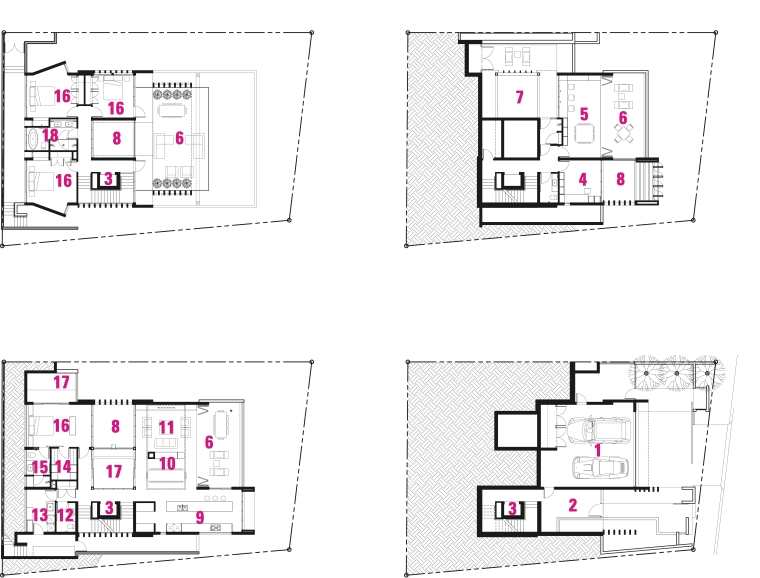 Legend to plan of modern four-level house buy area, design, diagram, drawing, floor plan, font, line, product, product design, text, white