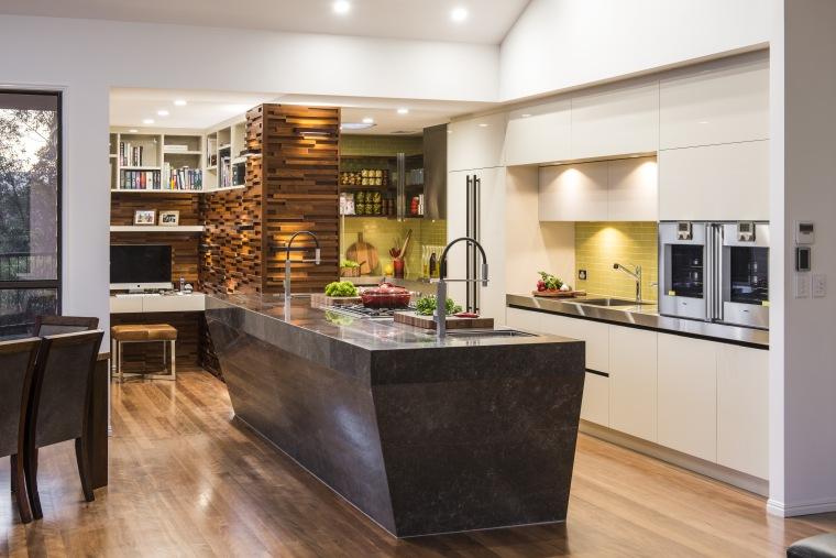 Strong textures in modern kitchen by Darren James, cabinetry, countertop, cuisine classique, interior design, kitchen, white