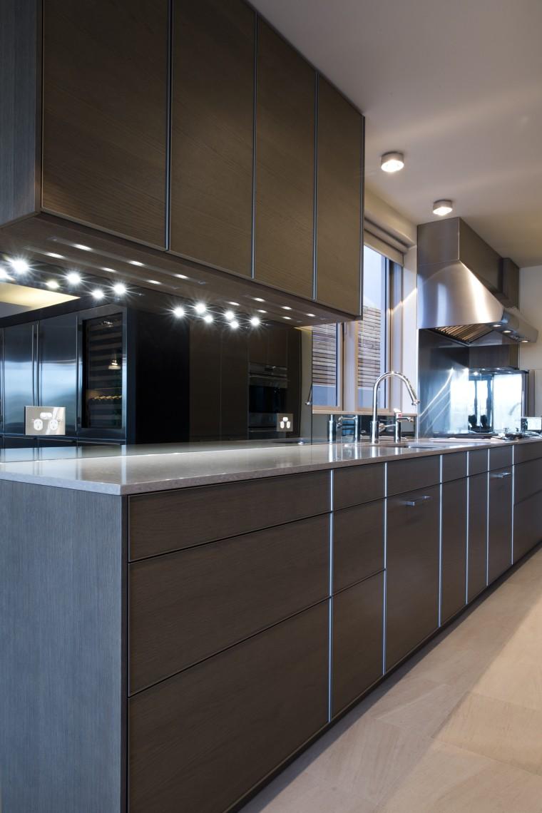 Sleek, contemporary German kitchen cabinetry, countertop, interior design, kitchen, black