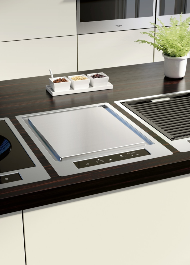 Italian appliance collection by Fulgor Milano floor, furniture, product design, table, white