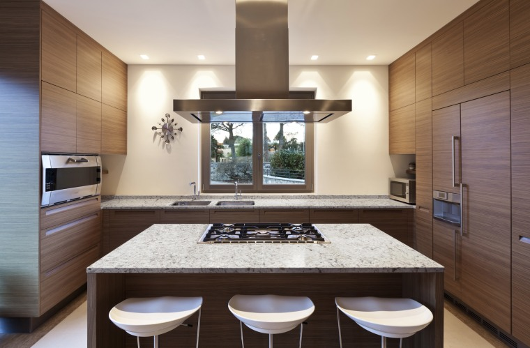 Arctic from the Silestone Ocean series was specified cabinetry, countertop, cuisine classique, flooring, interior design, kitchen, real estate, room, gray