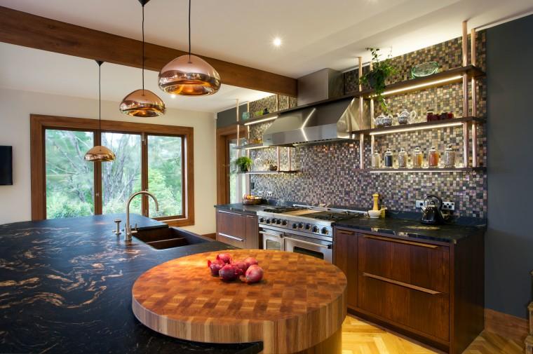 Natalie Du Bois kitchen evokes the textured look ceiling, countertop, home, interior design, kitchen, living room, real estate, room, brown