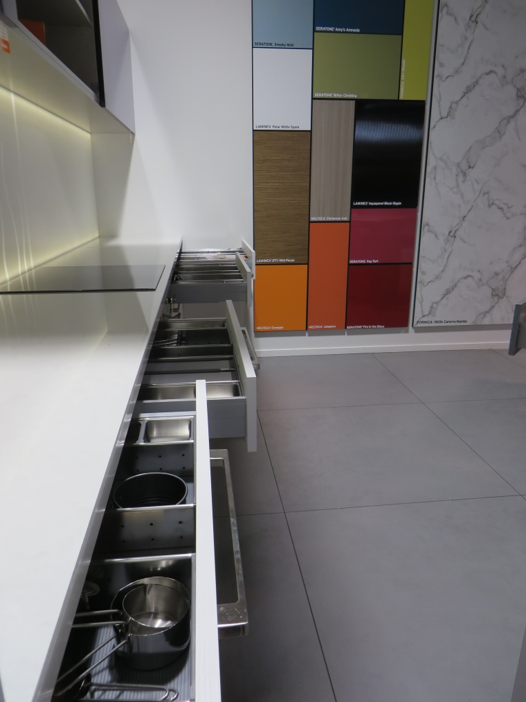 The latest storage solutions are all on show architecture, floor, flooring, glass, interior design, product design, gray