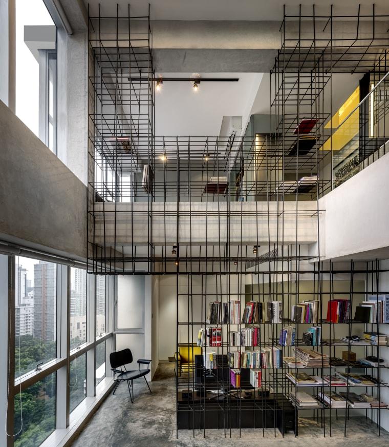 Sculptural agenda  a monoform interior design device architecture, building, daylighting, interior design, gray, black