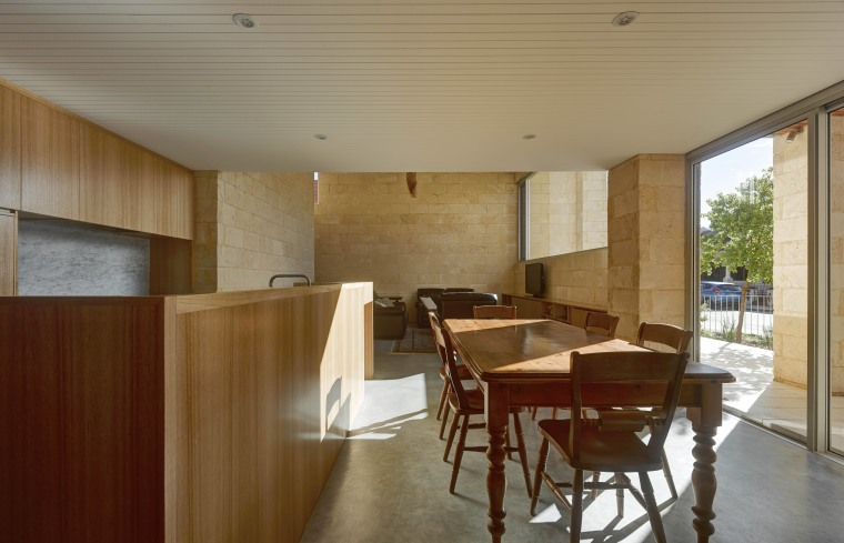 Natural raw materials feature throughout this new house architecture, ceiling, floor, flooring, house, interior design, property, real estate, table, wood, brown