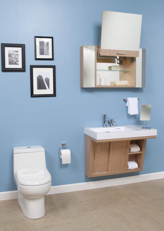 Libera vanities from Lacava are teamed with Zoom bathroom, bathroom accessory, bathroom cabinet, bathroom sink, plumbing fixture, product, product design, room, shelf, shelving, sink, tap, toilet, toilet seat, teal