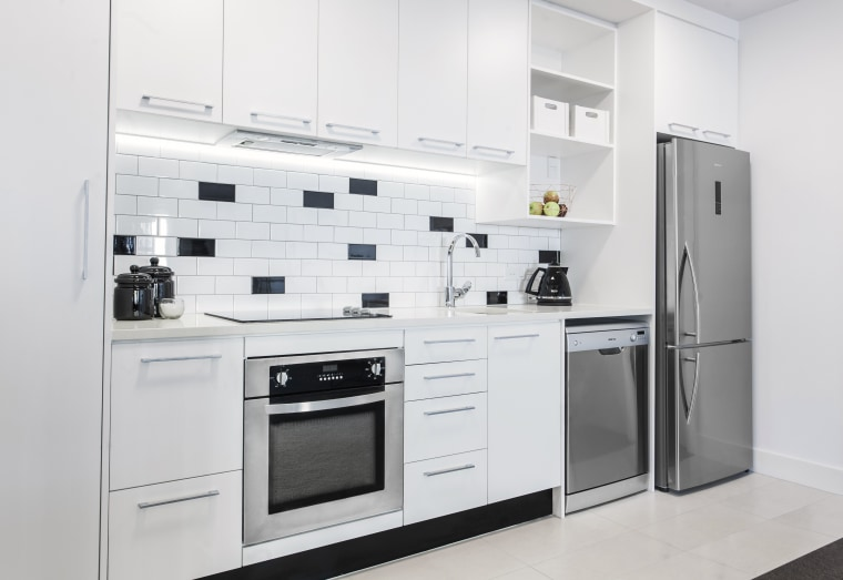 Eisno appliances, an internationally celebrated Italian fashion appliance countertop, home appliance, kitchen, kitchen appliance, kitchen stove, major appliance, product, product design, refrigerator, white