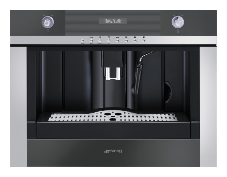 The Linear Collection  built-in coffee machine included coffeemaker, espresso machine, home appliance, kitchen appliance, product, product design, small appliance, black