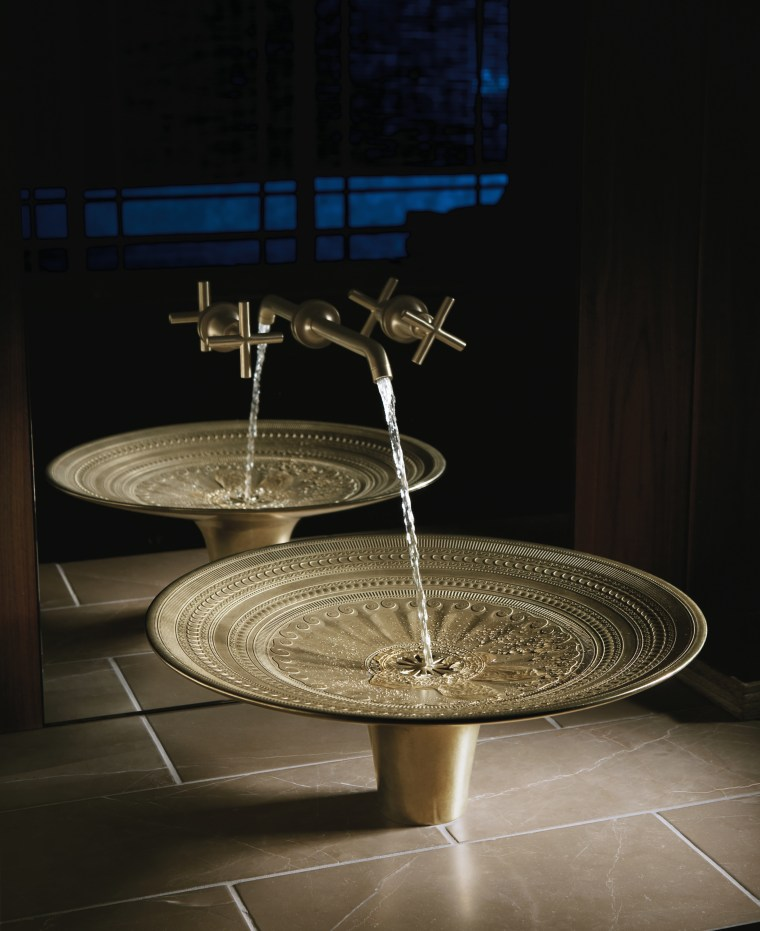 Think basins are boring? Not when they're inspired plumbing fixture, product design, sink, table, black