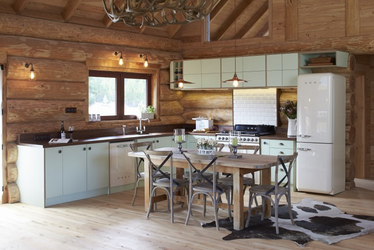 Cuisine Smeg   Solid Country Kitchen With Smeg Retro Style Trends