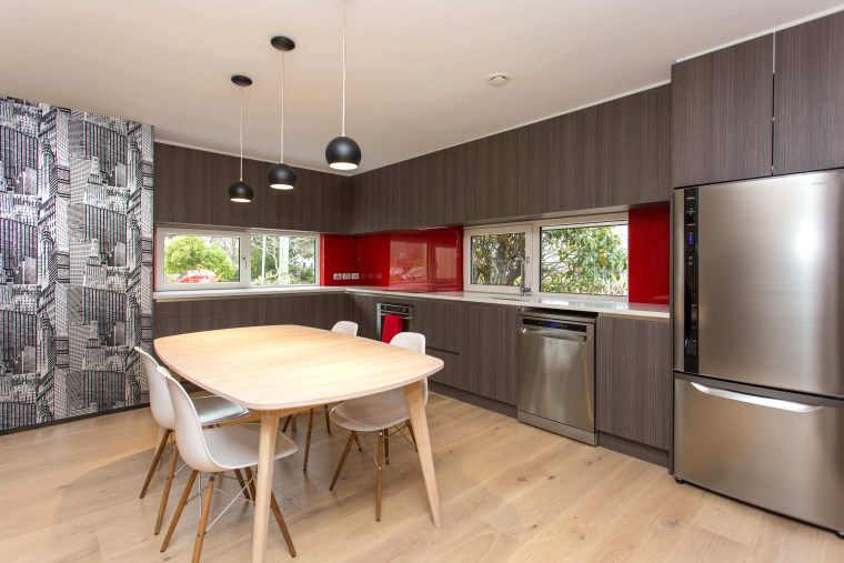 Bob Burnett Architecture specified one of NK Windows countertop, interior design, kitchen, real estate, room, gray