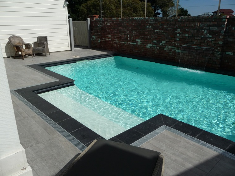 Contemporary In Ground Pool By Mayfair Pools With Trends