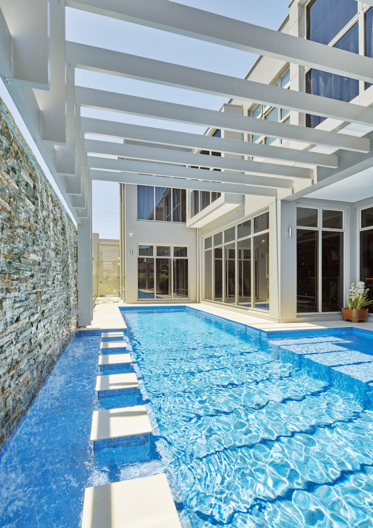 Making a splash  guests couldnt fail to condominium, daylighting, estate, home, leisure, leisure centre, property, real estate, swimming pool, water, gray, teal