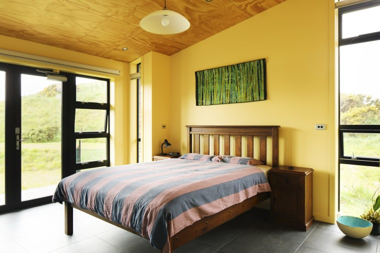 Plywood Ceilings In This Bedroom Are Complemented By Bed, Bed Frame, Bedroom,  Ceiling