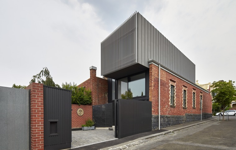 A zinc-clad addition to this Victorian home fits architecture, building, facade, house, property, real estate, residential area, white