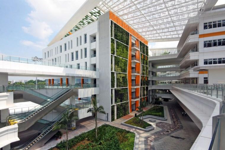 Singapore's ITE College Central includes one of the apartment, architecture, building, condominium, corporate headquarters, metropolitan area, mixed use, real estate, white, gray