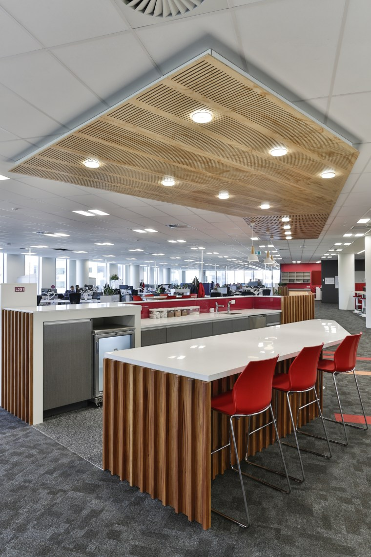 Gaze Commercial made prominent use of wood when architecture, cafeteria, ceiling, conference hall, daylighting, floor, flooring, furniture, interior design, product design, table, gray
