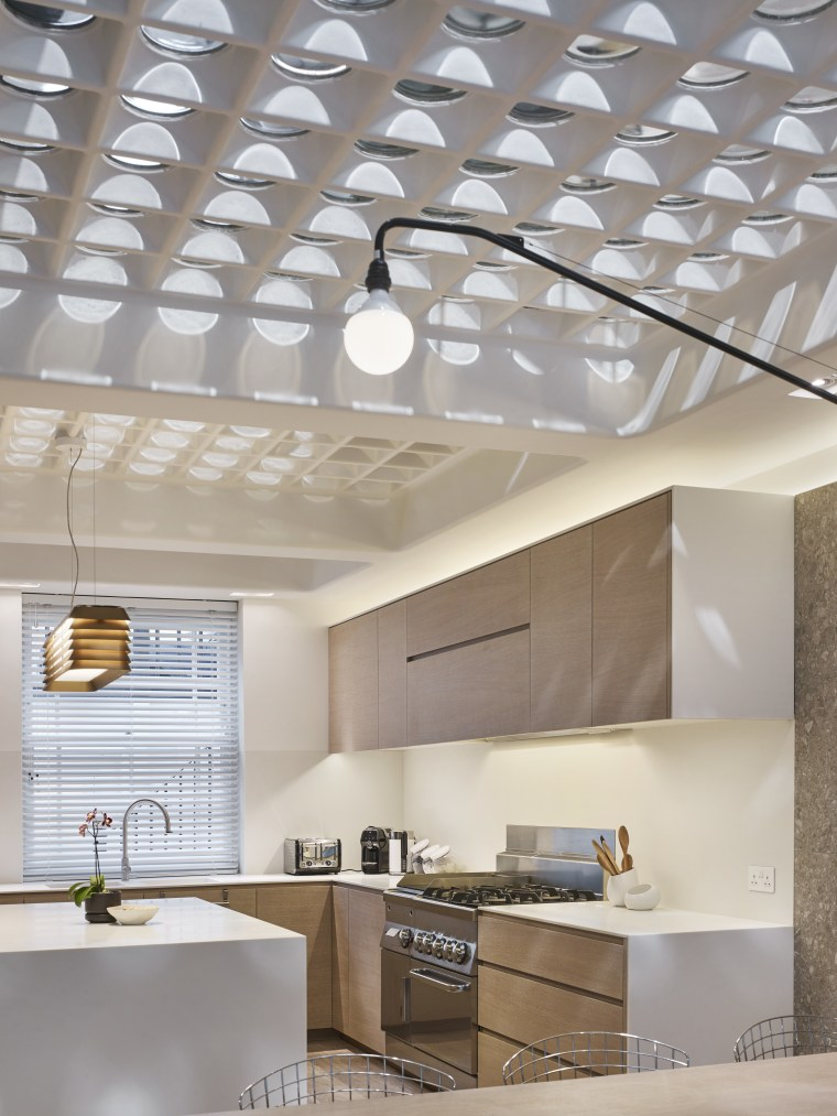 An introduced glass pavement ceiling throws light patterns architecture, ceiling, daylighting, interior design, product design, wall, gray