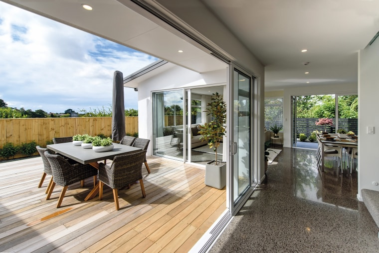 Uncluttered interiors on this GJ Gardner family home estate, home, house, interior design, property, real estate, gray