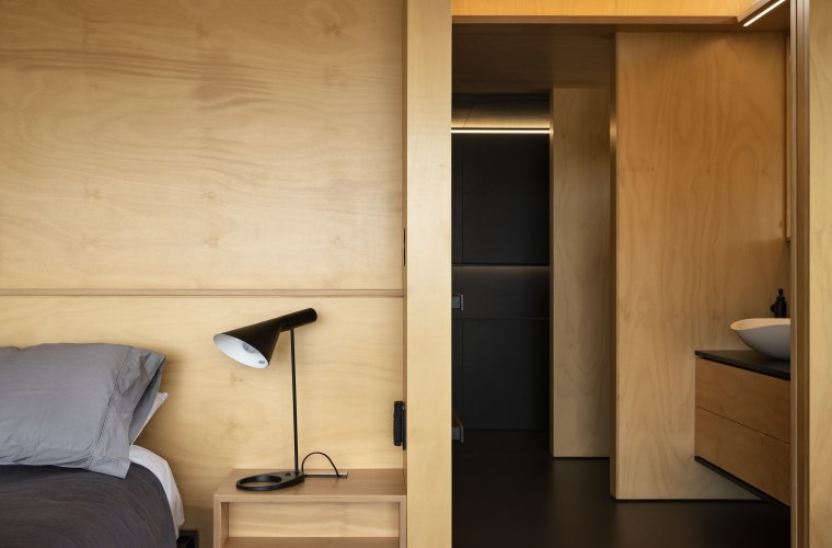 2018 TIDA New Zealand Architect-designed Suite Winner – cabinetry, cupboard, door, furniture, interior design, wall, wardrobe, wood, orange, brown