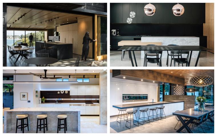 2019 Tida Kitchens 2 X 2 Banner Rectangular architecture, building, dining room, floor, furniture, home, house, interior design, living room, property, room, shelf, table, black