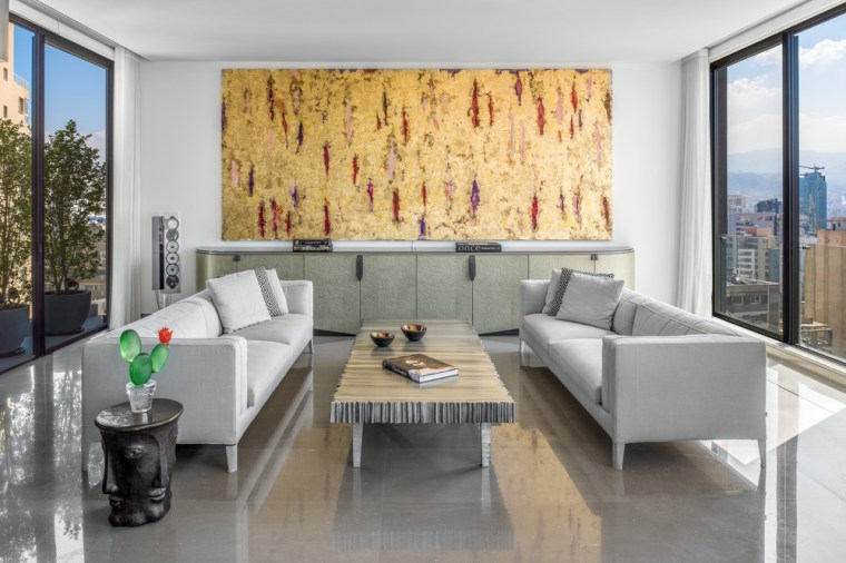 Mallorca's middle level features a dining area and apartment, architecture, building, ceiling, coffee table, design, floor, flooring, furniture, home, house, interior design, living room, loft, property, real estate, room, suite, table, wall, gray, white