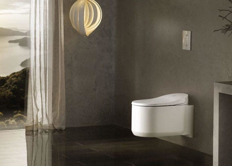 39354 SH0a - architecture   bathroom   beige architecture, bathroom, beige, bidet, ceramic, concrete, floor, flooring, interior design, marble, material property, plumbing fixture, room, tile, toilet, wall, black, gray