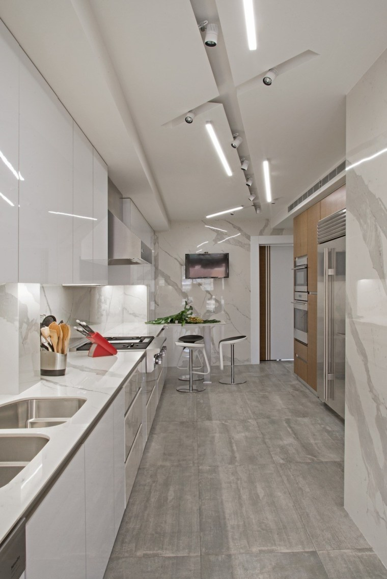 White and wood remain kings in the kitchen, architecture, building, cabinetry, ceiling, countertop, daylighting, floor, flooring, furniture, home, house, interior design, kitchen, loft, material property, property, real estate, room, tile, gray