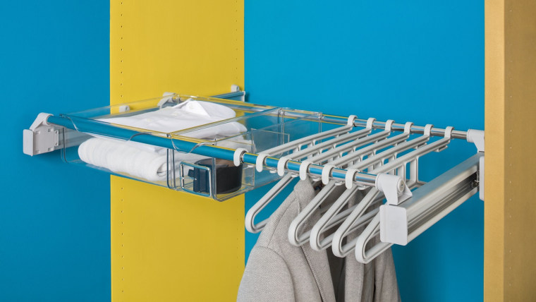 Ambos' wardrobe system will help you make the product, teal