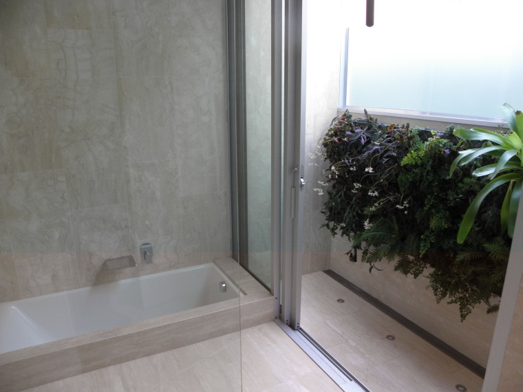 Greenwalls in the bathroom are low maintenance area, bathroom, glass, home, property, real estate, room, window, gray