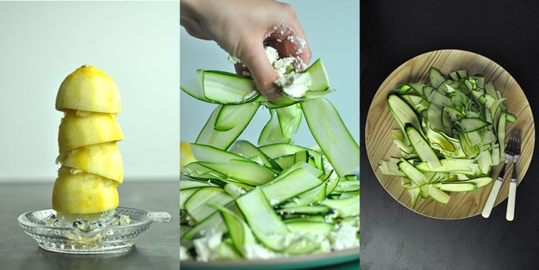 Courgette Lemon Salad – Fisher and Paykel - dish, food, produce, vegetable, vegetarian food, zucchini, green