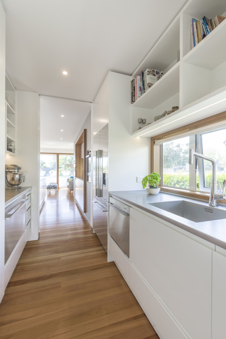 View from the kitchen scullery countertop, daylighting, floor, home, house, interior design, kitchen, property, real estate, room, gray